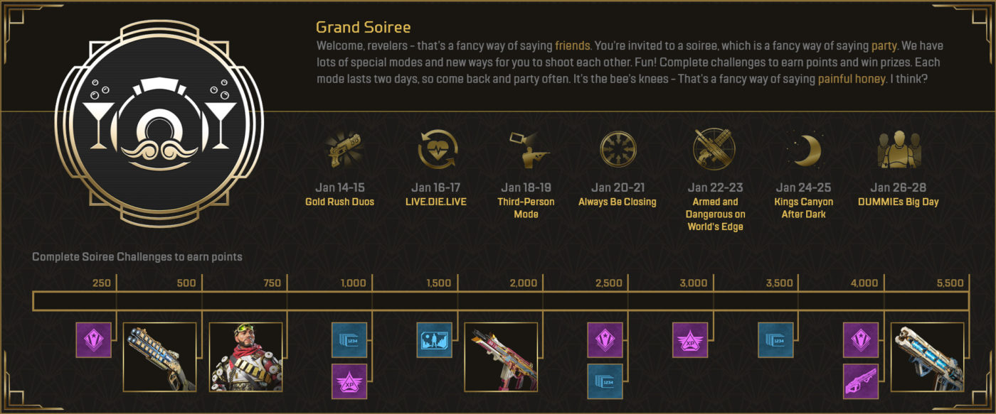 """apex legends new event, Apex Legends New Event """"Grand Soiree Arcade Event"""" Dropping Next Week, MP1st, MP1st"""