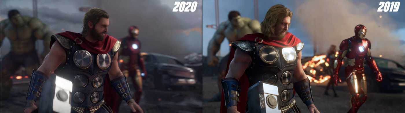 avengers game characters redesign, Marvel's Avengers Game Characters Redesign Shows New Thor Look and Other Changes, MP1st, MP1st