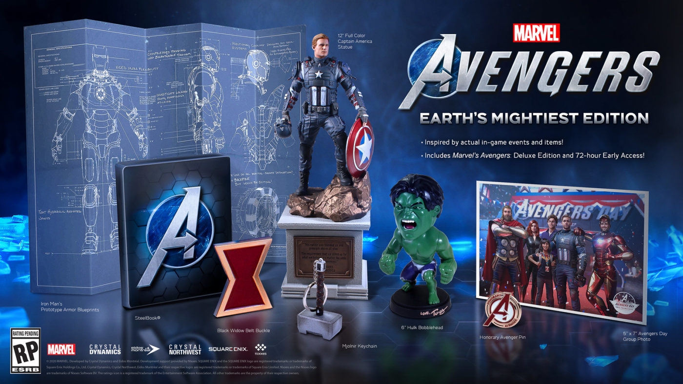 avengers game editions, Marvel's Avengers Editions Detailed, Deluxe Edition Gives 72-Hour Early Access, MP1st, MP1st