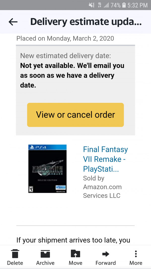 final fantasy 7 remake, PSA: Amazon Delays Final Fantasy 7 Remake as They Priorities Medical Supplies and Other Essentials, MP1st, MP1st