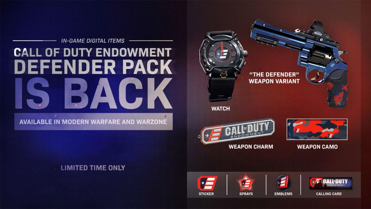 modern warfare defender pack, Modern Warfare Defender Pack DLC Now Out, 100% of Proceeds to Help Military Vets, MP1st, MP1st
