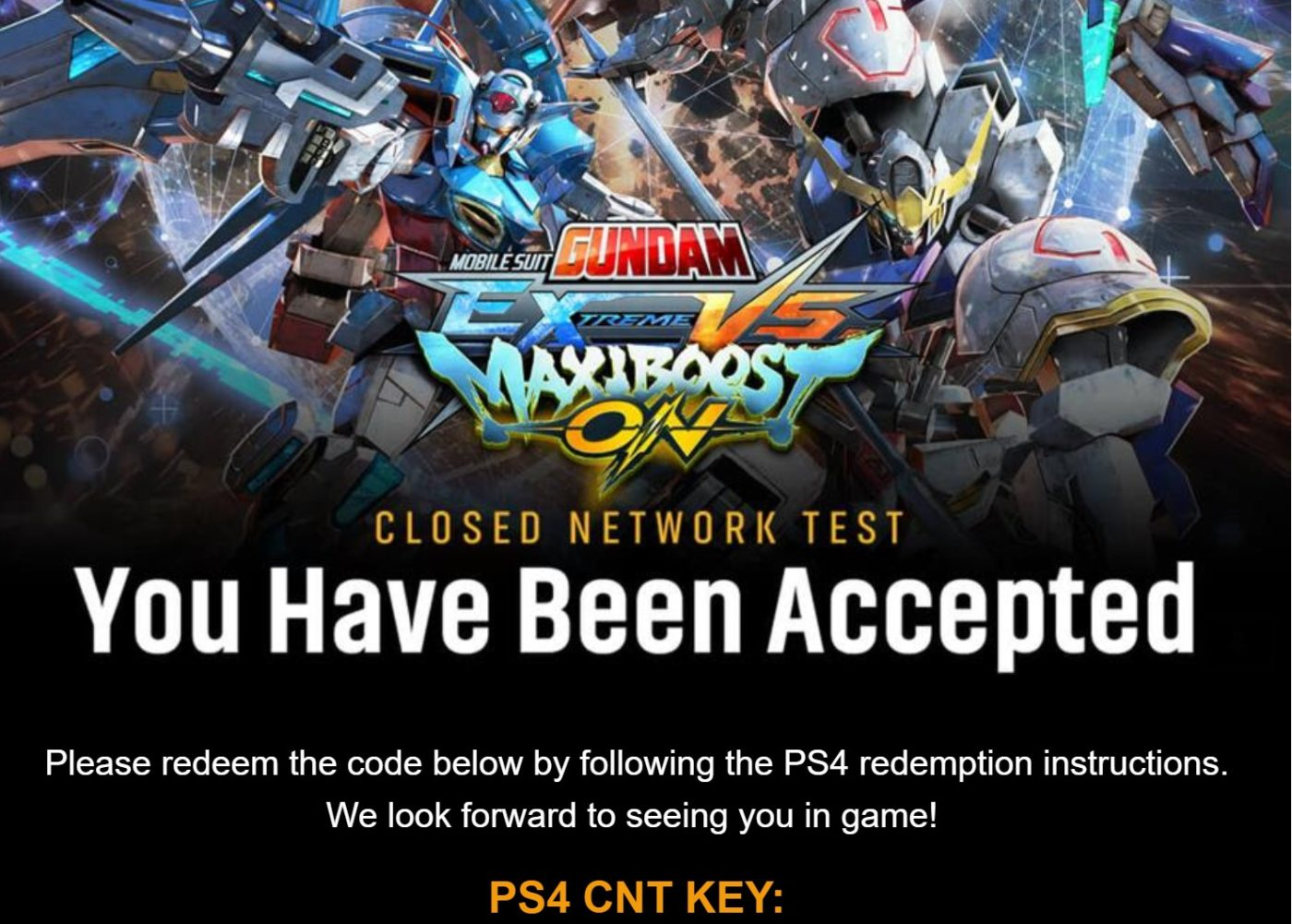 Mobile Suit Gundam Extreme VS. Maxiboost ON Beta, Mobile Suit Gundam Extreme VS. Maxiboost ON Beta Invites Are Going out, MP1st, MP1st