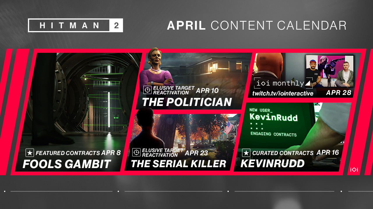 hitman 2 april content calendar, Hitman 2 April Content Calendar Revealed, MP1st, MP1st