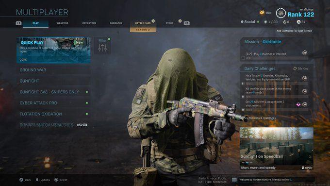 modern warfare playlist update, Modern Warfare Playlist Update Takes Out April Fool's Playlists, Brings Back Chaos, MP1st, MP1st