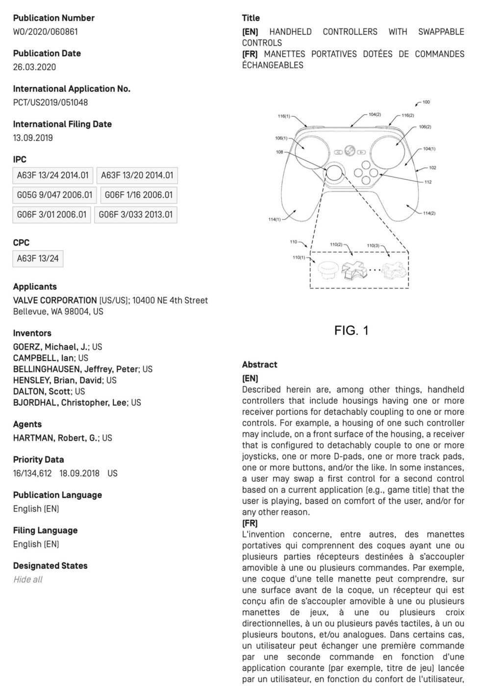 new steam controller, Valve Patents New Steam Controller With Swappable Parts, MP1st, MP1st