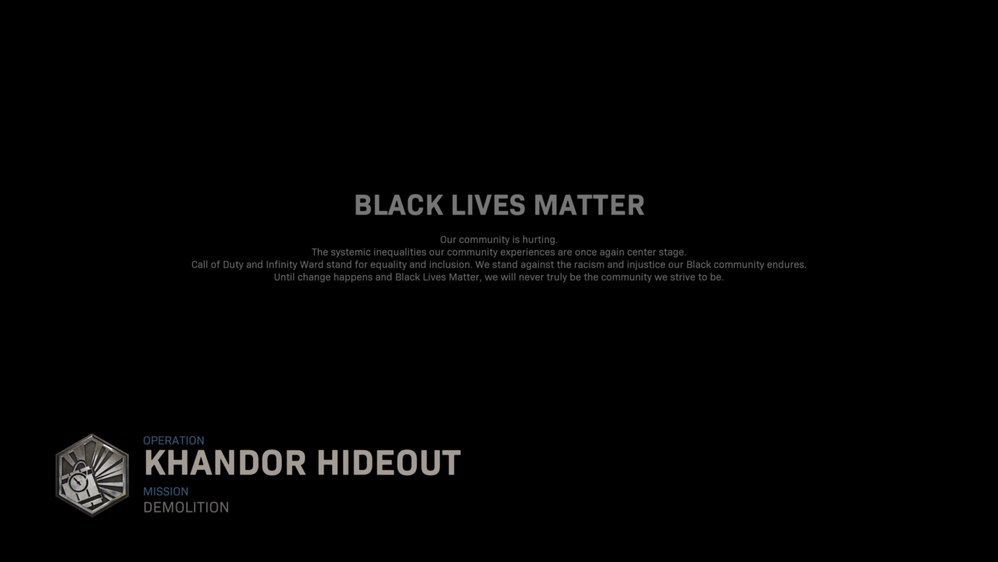 modern warfare loading, Infinity Ward Changes Modern Warfare Loading & Start Up Screens to Support Black Lives Matter, MP1st, MP1st