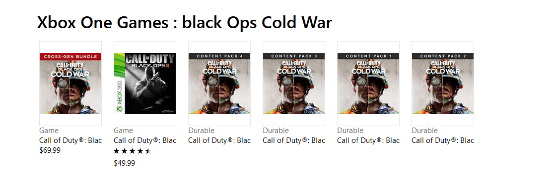 Se descubren varios packs de contenidos de Call of Duty: Black Ops Cold War en la Xbox Store 2