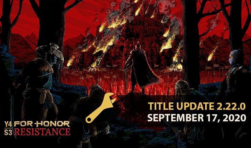 For Honor Update 2.22 September 17