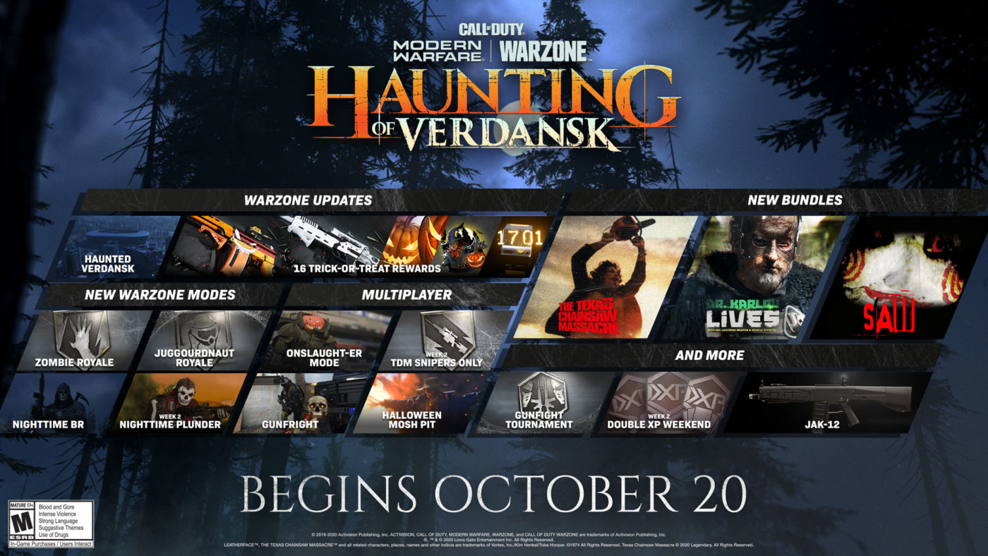 Modern Warfare & Warzone Halloween Event Starts Tomorrow, Trailer & Info Released