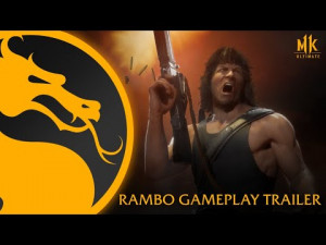 Mortal Kombat 11 Rambo Gameplay Features Sylvestor Stallone's Franchise Debut