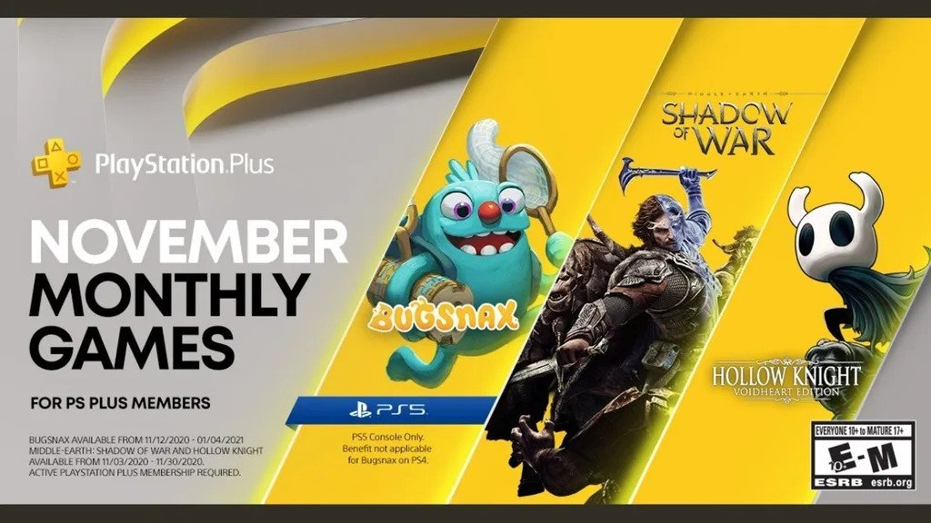 PlayStation Plus games for November announced, includes Bugsnax for PS5