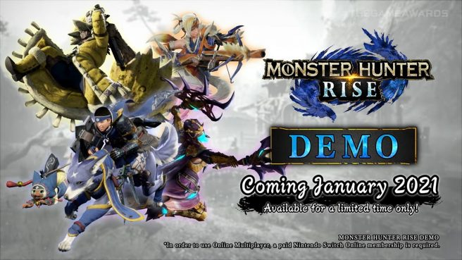 Capcom Unleashes Limited-Time Monster Hunter Rise Demo in January