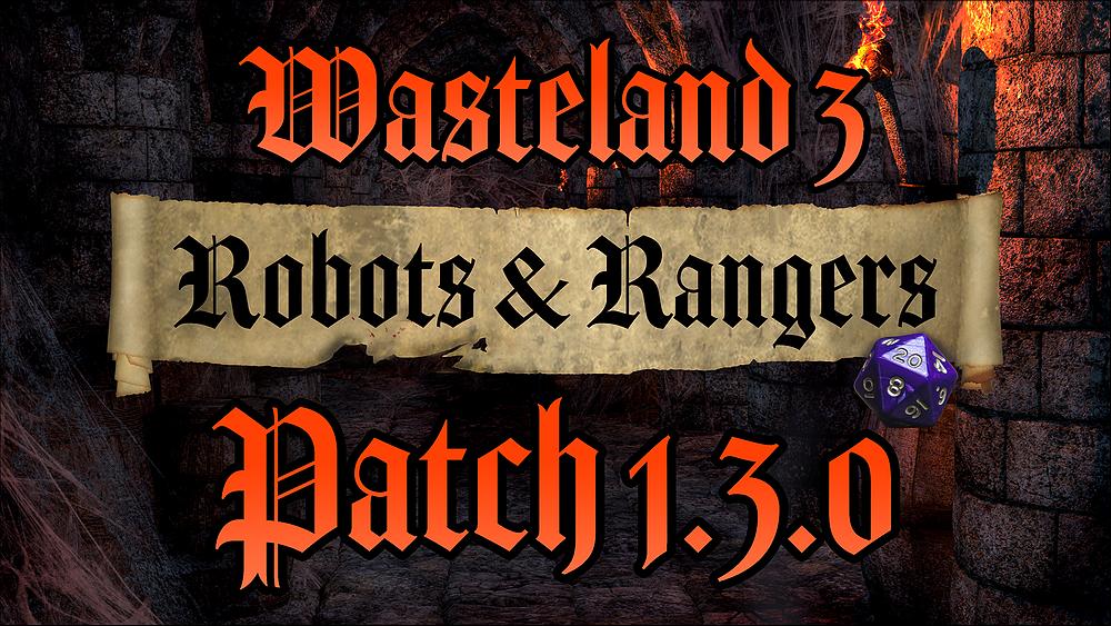 Wasteland 3 Update 1.13
