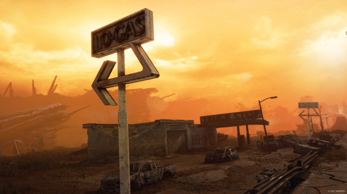 Marvel's Avengers Hawkeye DLC finished gas station