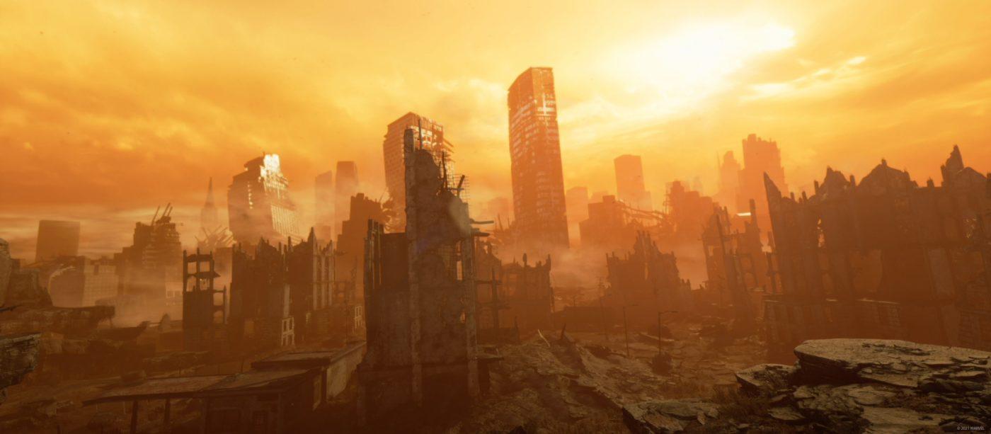 Marvel's Avengers Hawkeye DLC finished wasteland art