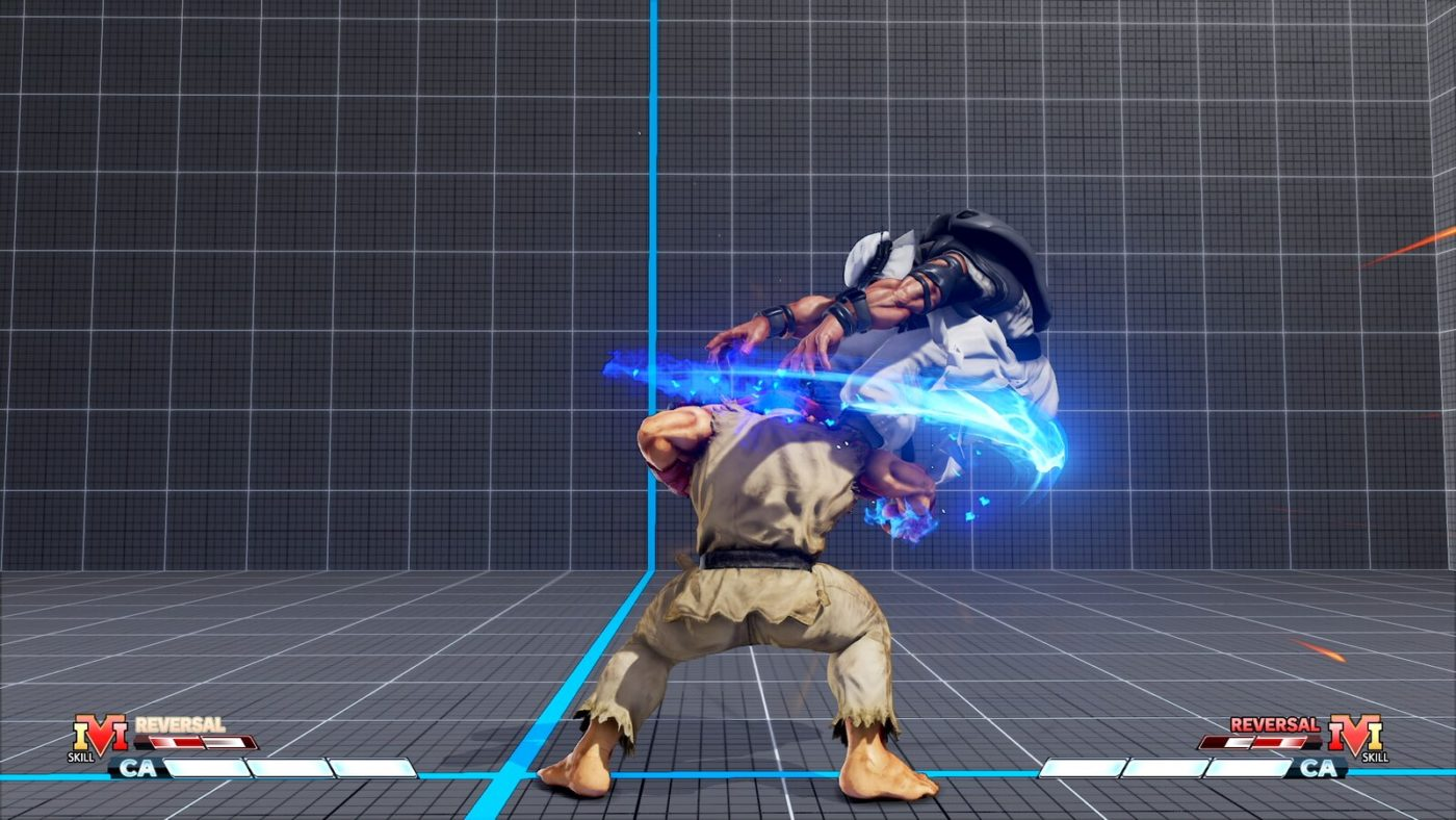 V-Shift Break executes a forward moving attack to halt the opponent's momentum