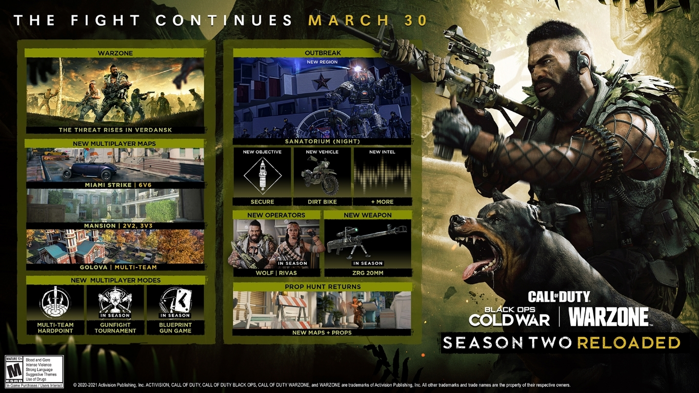 black ops cold war season 2 reloaded patch notes