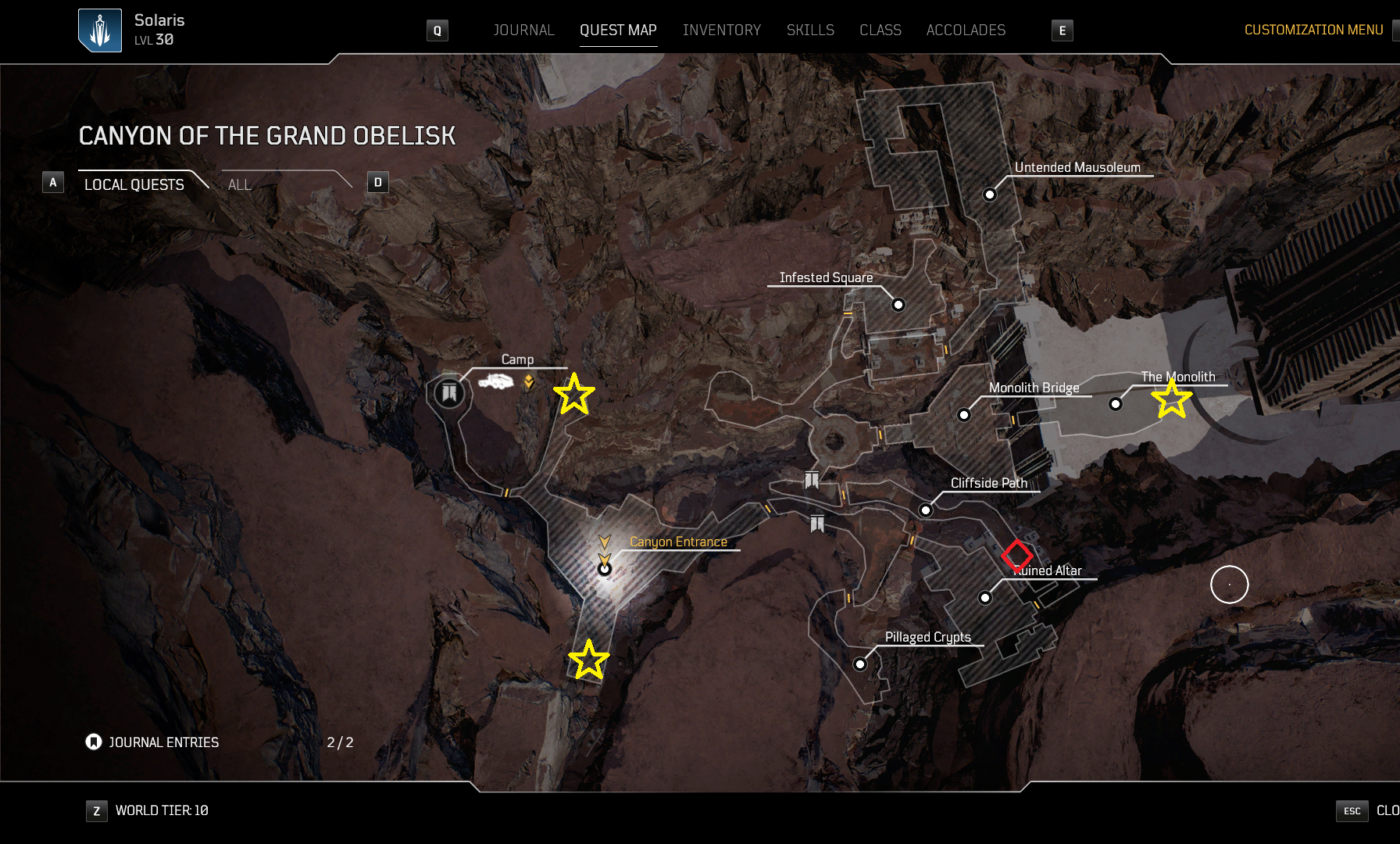 Outriders Legendary Farming Ped Map