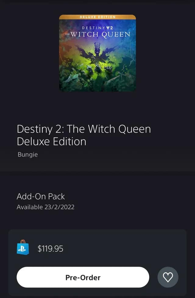 Destiny 2 The Witch Queen release date