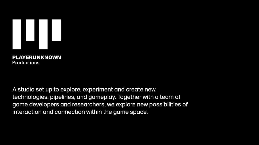 PlayerUnknown New studio
