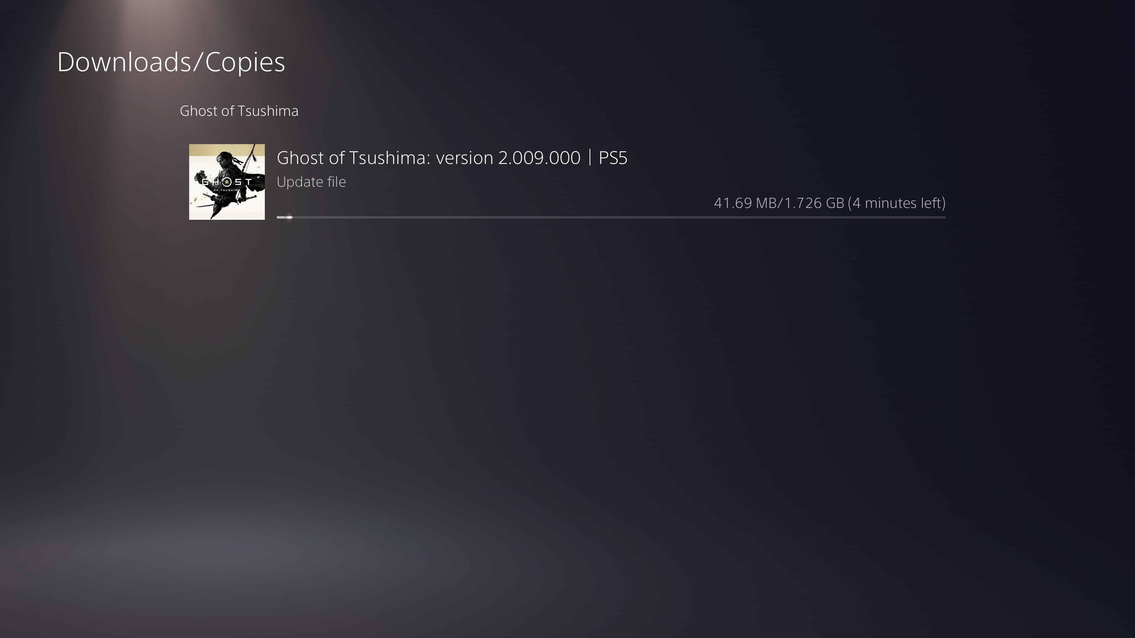 Ghost of Tsushima Update 2.09