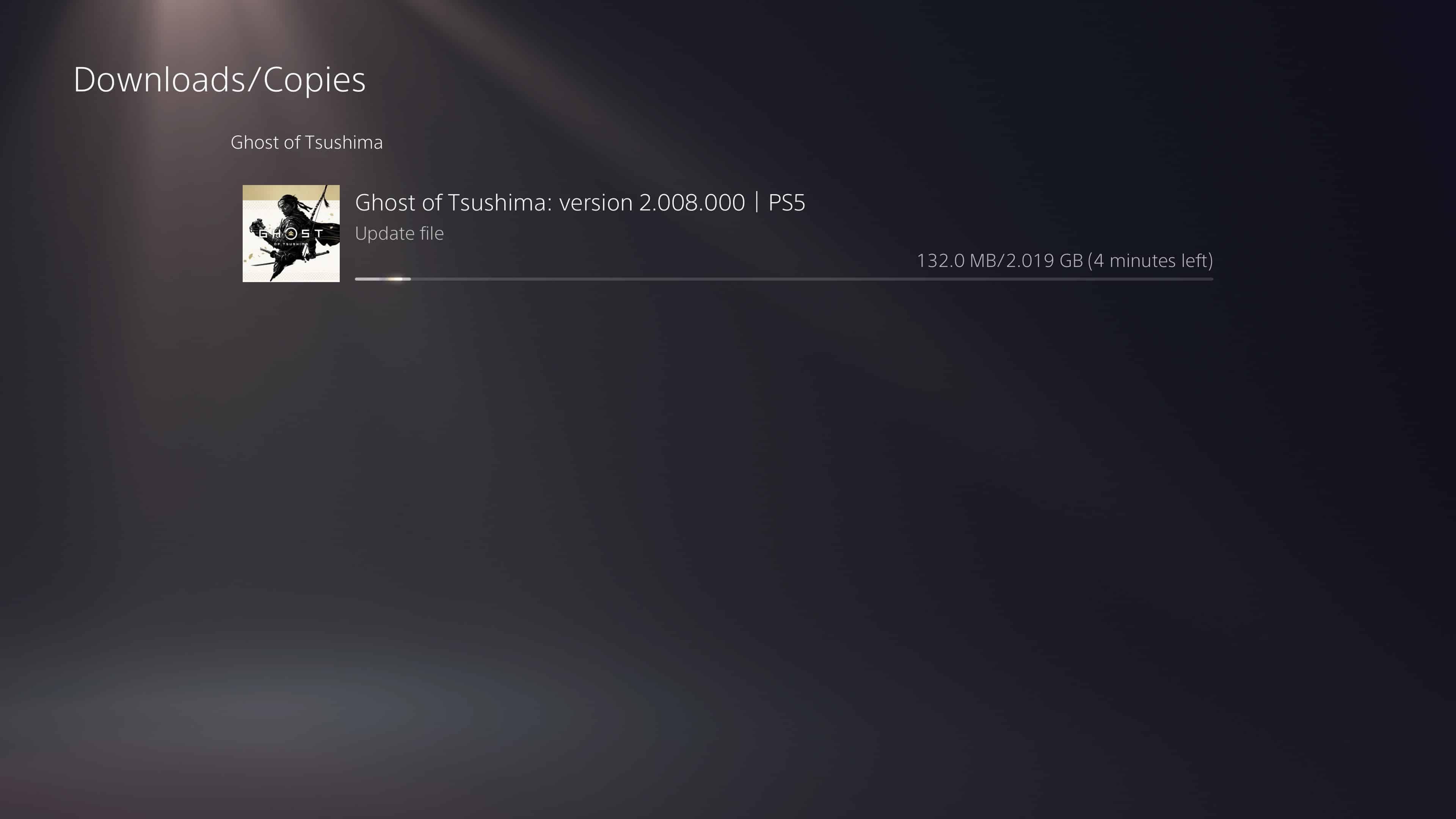 Ghost of Tsushima Update 2.08
