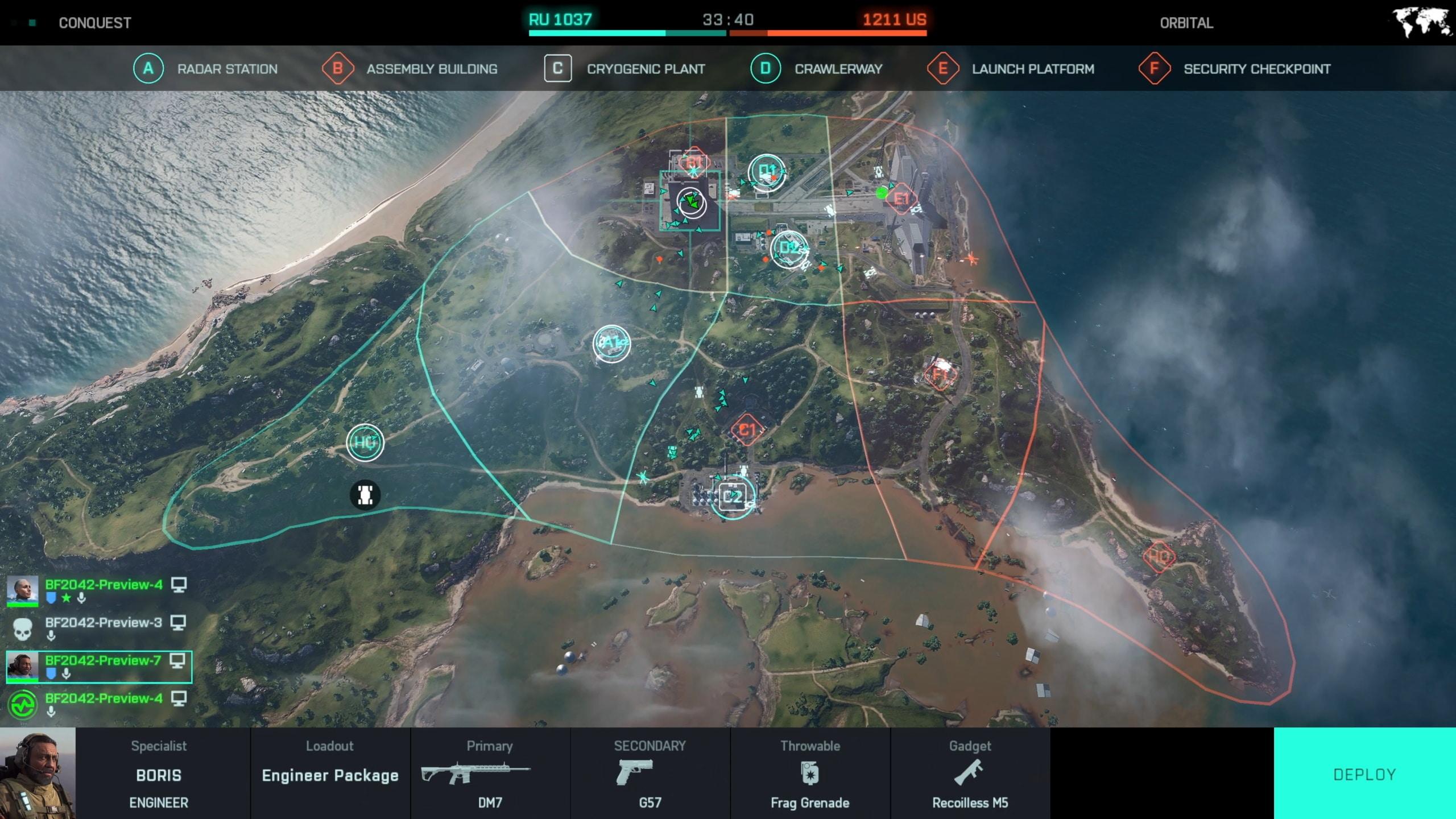 Battlefield 2042 UI