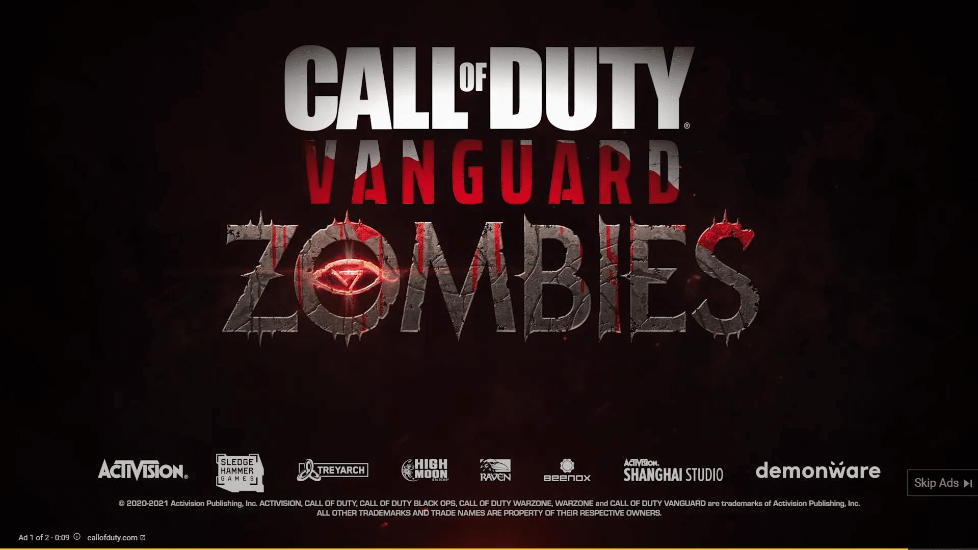 cod vanguard zombies trailer