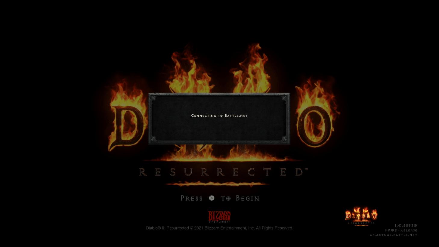 Diablo 2 Resurrected Down